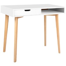 Cassie Wood Computer Desk with Drawer