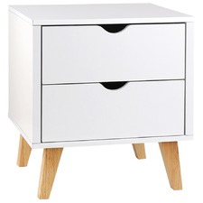 Sherie 2 Drawer Wooden Bedside Table