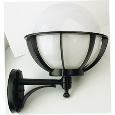 Olympus Outdoor Wall Bracket in Black / Opal