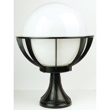 Olympus Newell Outdoor Light in Black / Opal