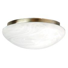 Fan Light in Antique Brass/ Alabaster