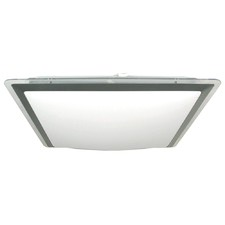 Vello 22W Square Acrylic Oyster Light in Silver / Opal