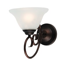 Gaston 1 Light Wall Bracket in Bronze