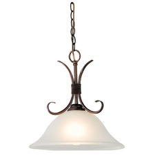 Gaston 1 Light Single Pendant in Bronze