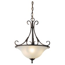 Gaston 3 Light Single Pendant in Bronze