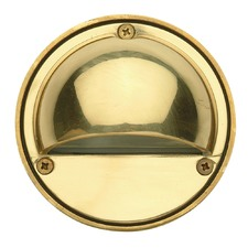 Luna Garden Eye Step Light in Solid Brass