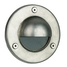 Rocco Hooded LV Exterior Recessed Light in Stainless Steel