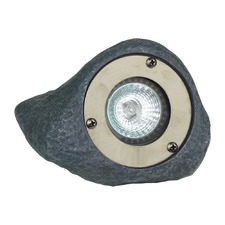 Rock Light in Stainless Steel Ring / Grey Finish