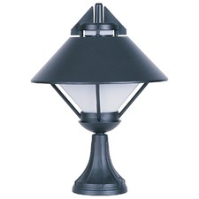 Apollo Exterior Newell Light in Black / Opal
