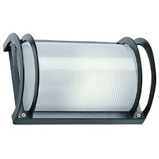 Cylinder Exterior Flush Wall Plain Light in Black