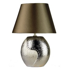 Eclipse Ovoid Complete Table Lamp in Champagne