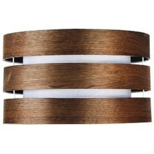 Taho Drum Shade in Cocoa Wood