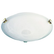 Remo Clips Alabaster Oyster Ceiling Light