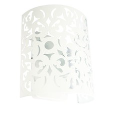 Matt White Porto Metal Wall Light