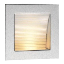 Linea Recessed 90 LED Wall Light in Silver 3000K