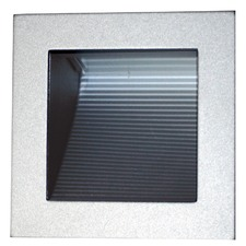 Linear 12 Volt 90 Recessed Wall Light in Silver