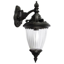 Newark One Light Outdoor Wall Light Down Facing in Black