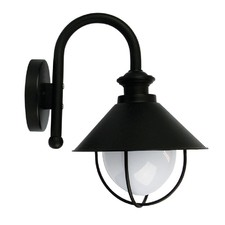 Cosmo One Light Outdoor Wall Light in Black