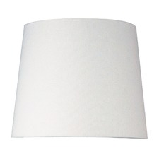 White Avola Linen Lamp Shade