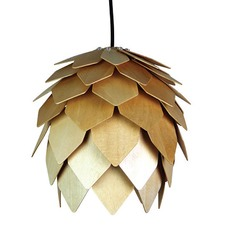 Natural Avezzano Wooden Pendant