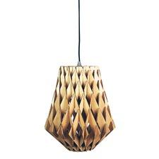 Nest 33cm Natural Timber Pendant