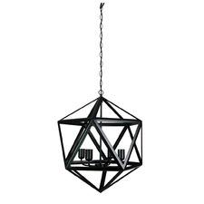 Vittoria 4 Light Metal Pendant