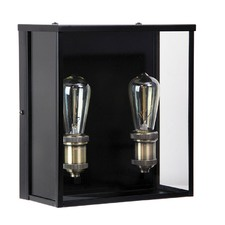 Black Oakland 2 Light Outdoor Wall Light