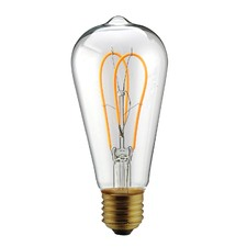 Twin Loop LED Filament Bulb (Set of 2)