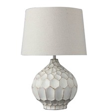Distressed White Medea Table Lamp