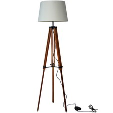 Galileo Alpha Timber Tripod Floor Lamp
