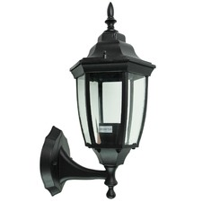 Highgate Up Exterior Wall Light in Black