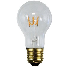 A60 E27 LED Spiral Filament Bulbs (Set of 2)