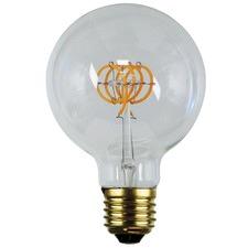 G95 E27 LED Spiral Filament Bulbs (Set of 2)