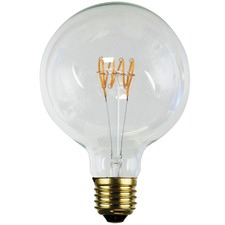 G125 E27 LED Spiral Filament Bulbs (Set of 2)