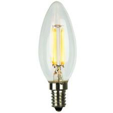 C35 E27 LED Filament Bulbs (Set of 2)