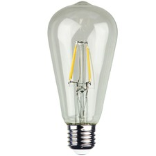 ST64 E27 LED Filament Bulbs (Set of 2)