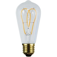 ST64 E27 LED Loop Filament Bulbs (Set of 2)