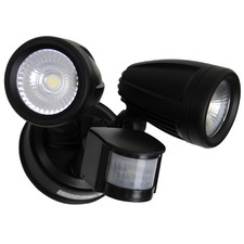 Black Escort Sensor LED Outdoor Flood Light