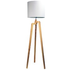 Alba Wooden Tripod Floor Lamp