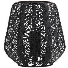 Black Lace Floral Metal Table Lamp