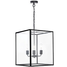 Classic Hampton Metal & Glass Pendant Light