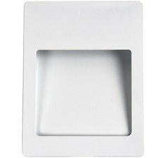 White Manfredonia Metal Recessed Wall Light