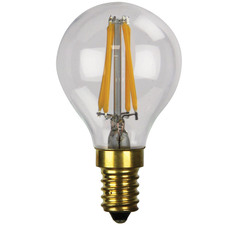 Round G45 Dimmable LED Filament Bulb