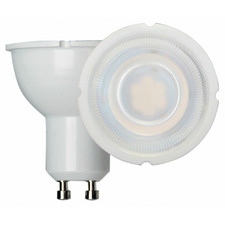 White GU10 LED Globe