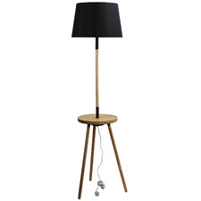 Toft Wooden Floor Lamp with USB