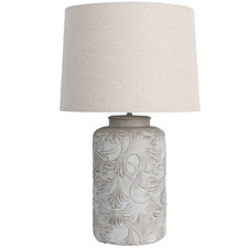 White Basilicata Table Lamp