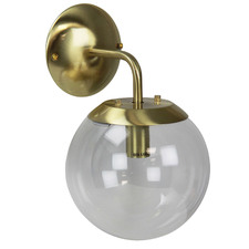 Ruano Glass & Steel Wall Light