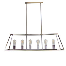 Reuten 6 Light Steel Pendant