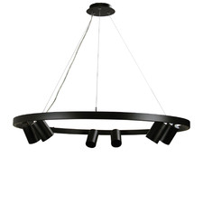 Black Zori 6 Light Metal Pendant