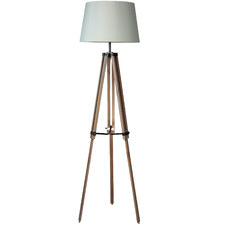 Palermo Wooden Tripod Floor Lamp Base